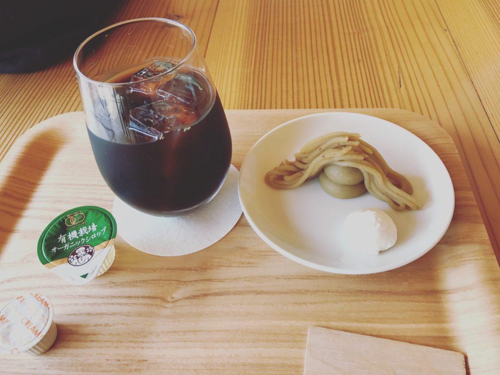 おちゃくりcafeのモンブラン