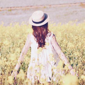 菜の花吹き出し女の子