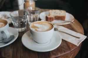cafeでカプチーノ