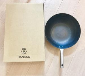 鉄のフライパン打出しHANAKOと箱